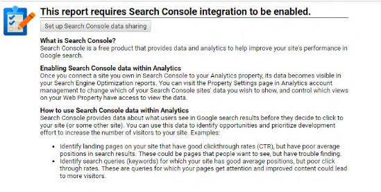 Set up Search Console Data Sharing in Google Analytics
