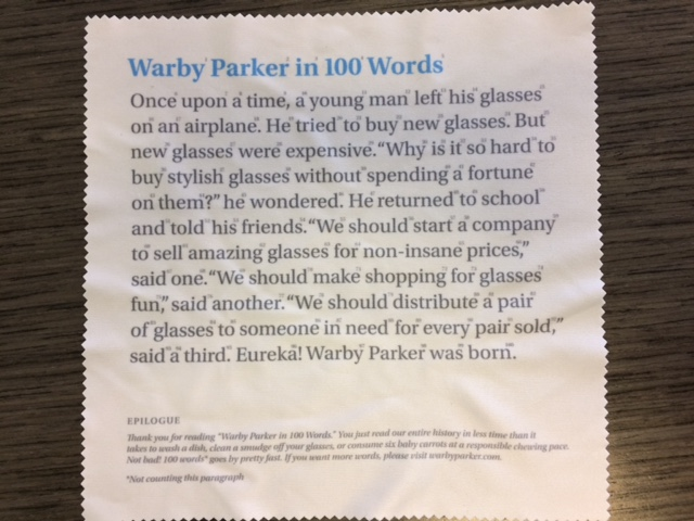 Warby Parker in 100 words