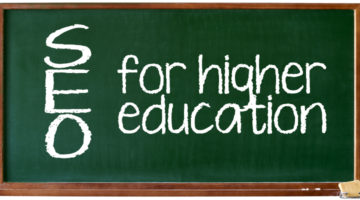 SEO for higher education banner