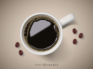 3d illustration of a coffee cup